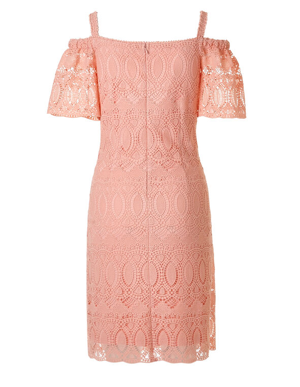 Light Coral Lace Shift Dress, Light Coral, hi-res