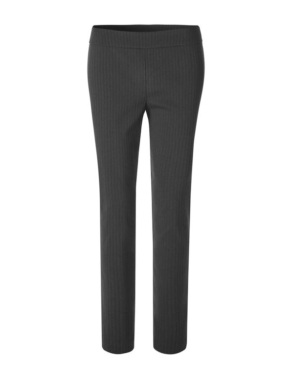 Cleo Signature Stripe Pant, Grey/Black, hi-res