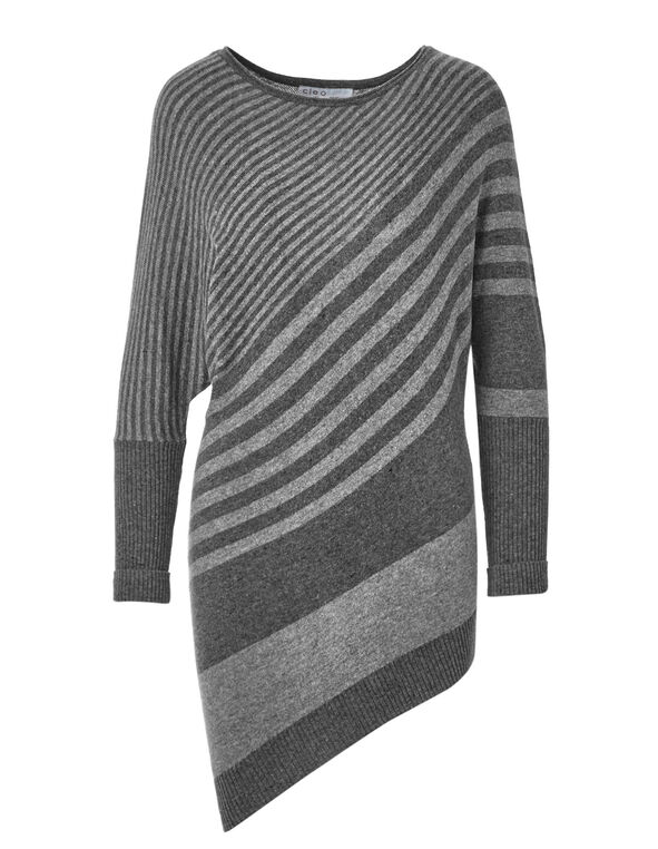 Charcoal Dolman Sleeve Sweater, Charcoal, hi-res