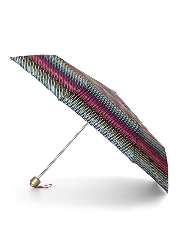 Rainbow Dotted Umbrella, Black, hi-res