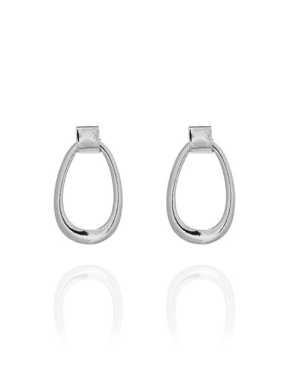 Silver Teardrop Earring, Silver, hi-res