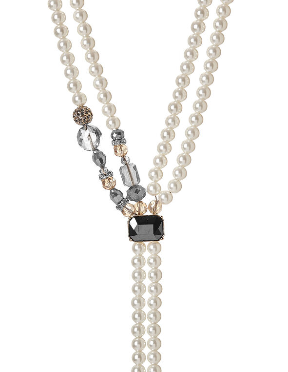 Pearl Lariat Necklace, Pearl, hi-res