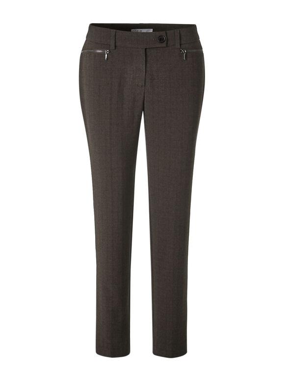 Brown Long Favourite Slim Pant, Brown, hi-res