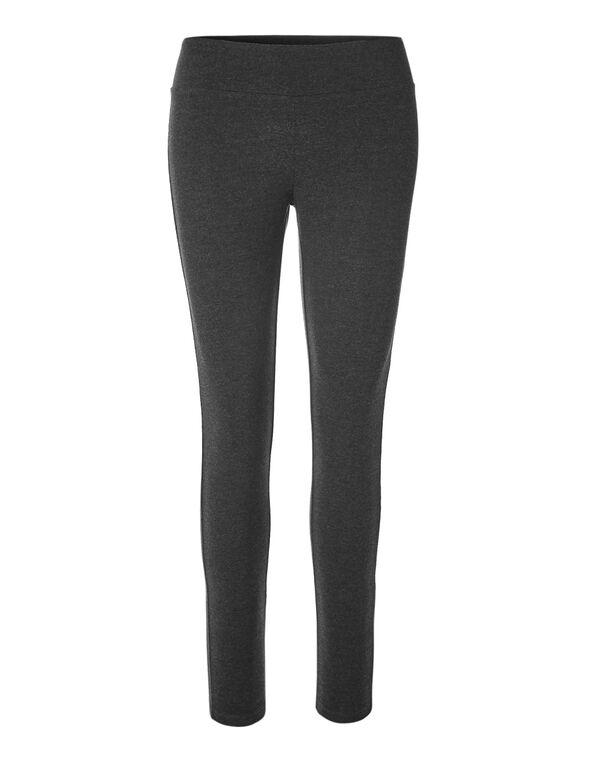 Charcoal Cotton Legging, Charcoal, hi-res