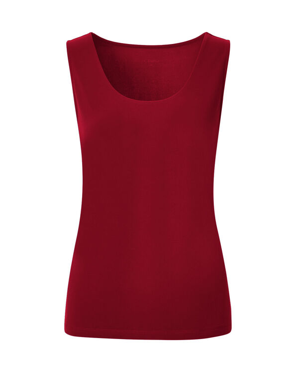 Red Essential Layering Top, Winter Red, hi-res