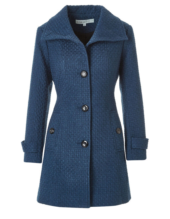 Lagoon Basket Weave Coat, Lagoon, hi-res