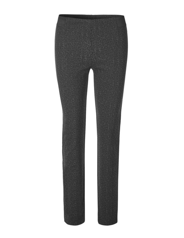 Grey Printed Pullon Legging, Black/Grey, hi-res