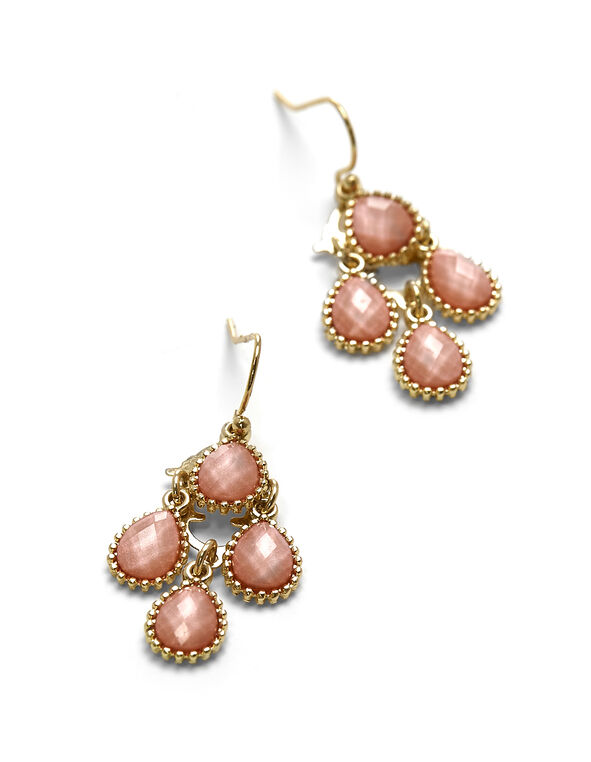 Coral Mini Chandelier Earring, Coral, hi-res