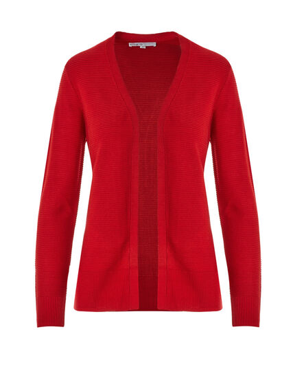 Red Ottoman Stitch Topper Sweater, Red, hi-res