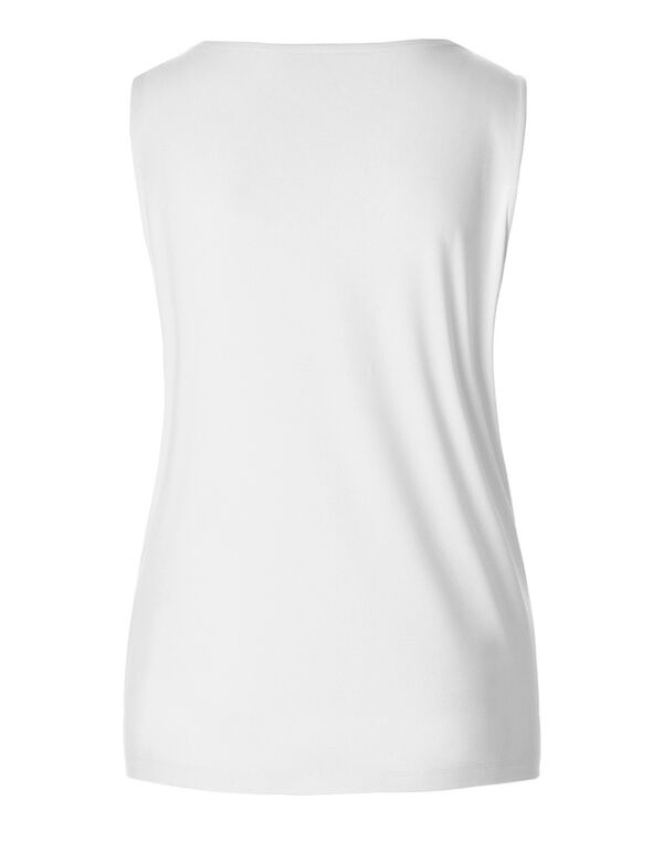 V-Neck Essential Layering Top, White, hi-res