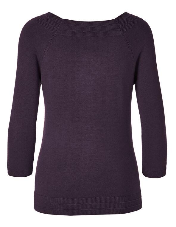 Purple Pullover Sweater, Purple, hi-res