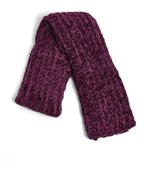 Wild Cranberry Chenille Loop Scarf, Red, hi-res