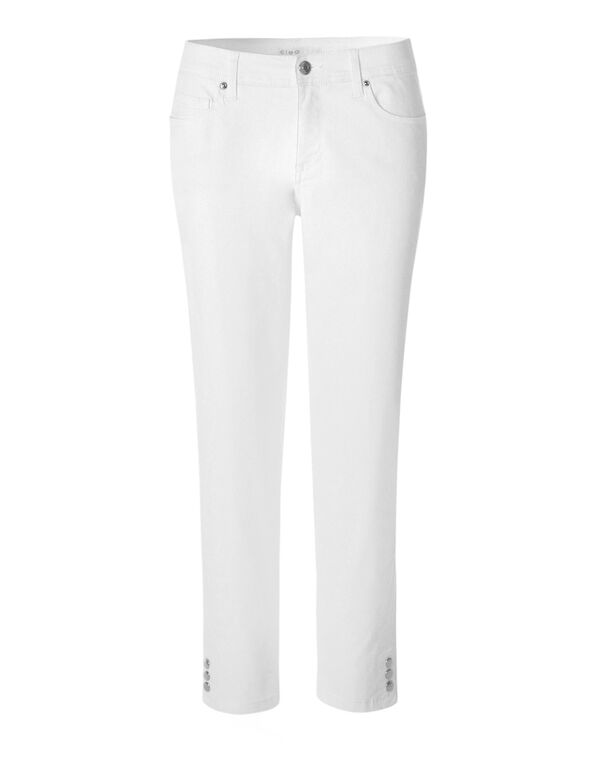 White Ankle Jean, White, hi-res