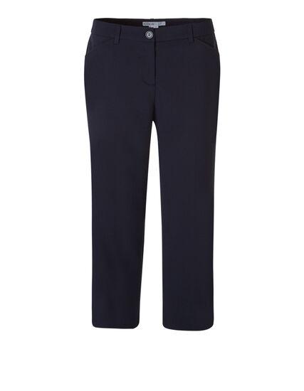 Navy Wide Leg Crop Pant, Navy, hi-res