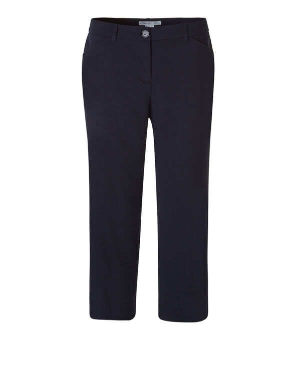 Navy Wide Leg Crop Pant, Navy, hi-res