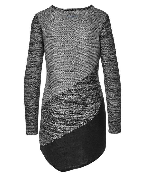 Grey Mix Asymmetrical Tunic, Light Grey Mix, hi-res