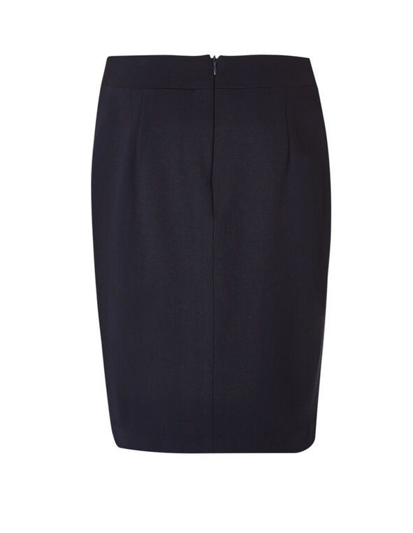 Navy Faux Button Skirt, Navy, hi-res