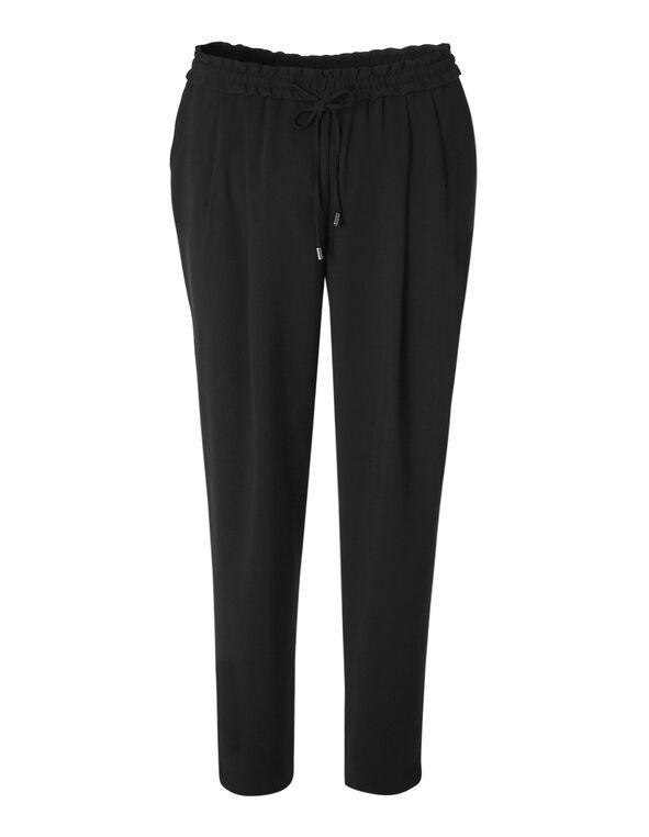 Black Soft Ankle Pant, Black, hi-res