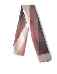 Pink Wave Oblong Scarf