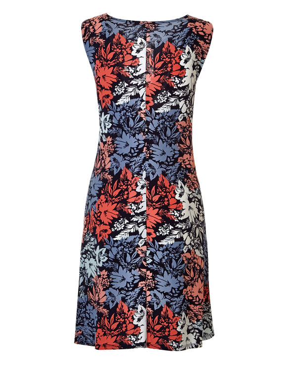 Floral Three Ring Dress, Navy/Dusty Pink/White/Washed Blue, hi-res