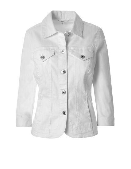 White Jean Jacket, White, hi-res