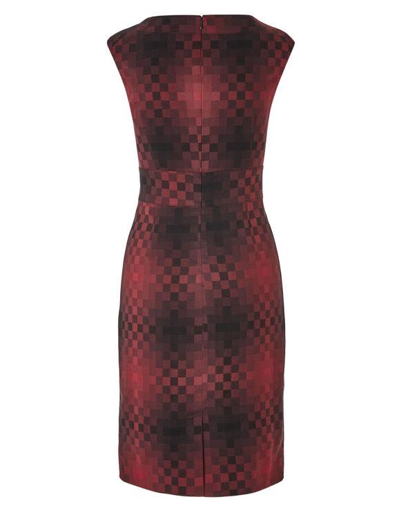 Brick Ombre Dress, Brick, hi-res