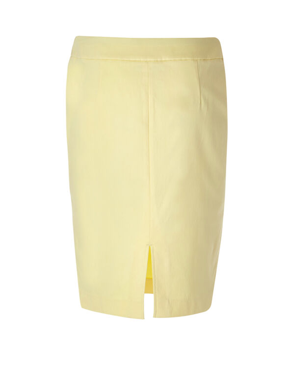 Yellow Signature Pencil Skirt, Yellow, hi-res