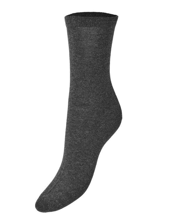 Grey Crew Sock, Grey, hi-res
