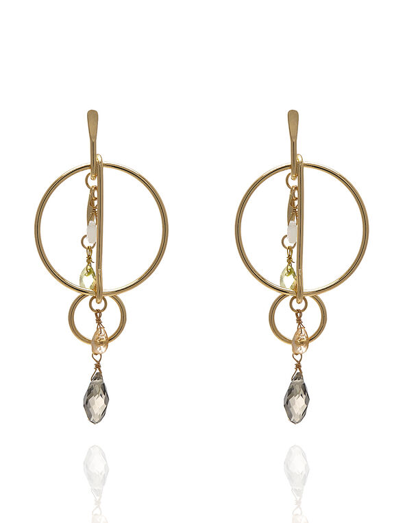 Gold Teardrop Earring, Gold, hi-res