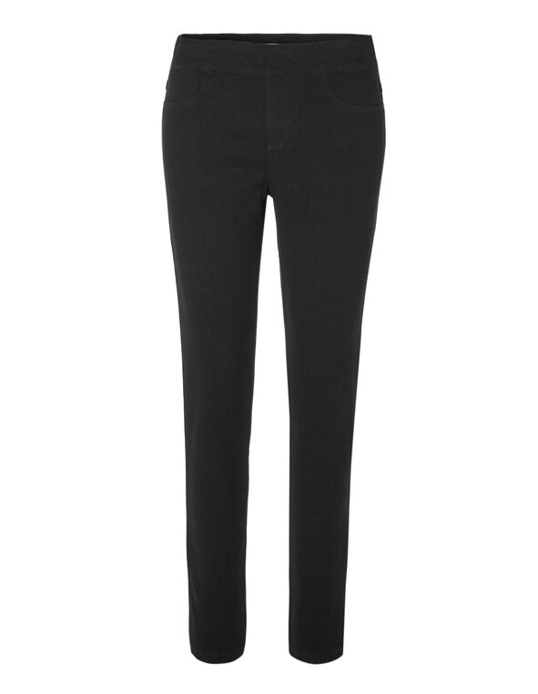 Black Denim Jegging, Black, hi-res