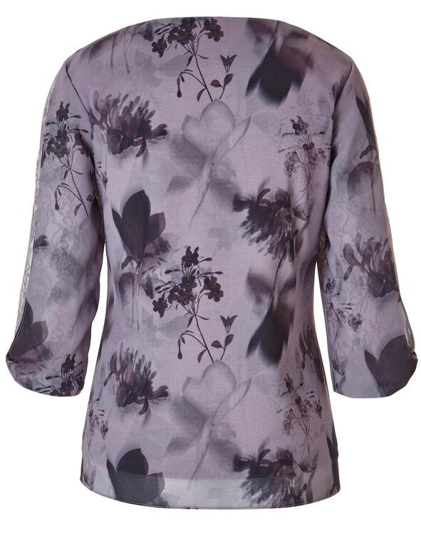 Light Mauve Butterfly Blouse, Light Mauve Print, hi-res