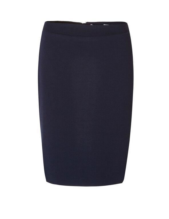 Navy Ottoman Pencil Skirt, Navy, hi-res