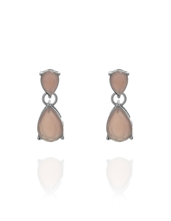 Pink Cat Eye Teardrop Earring, Pink, hi-res
