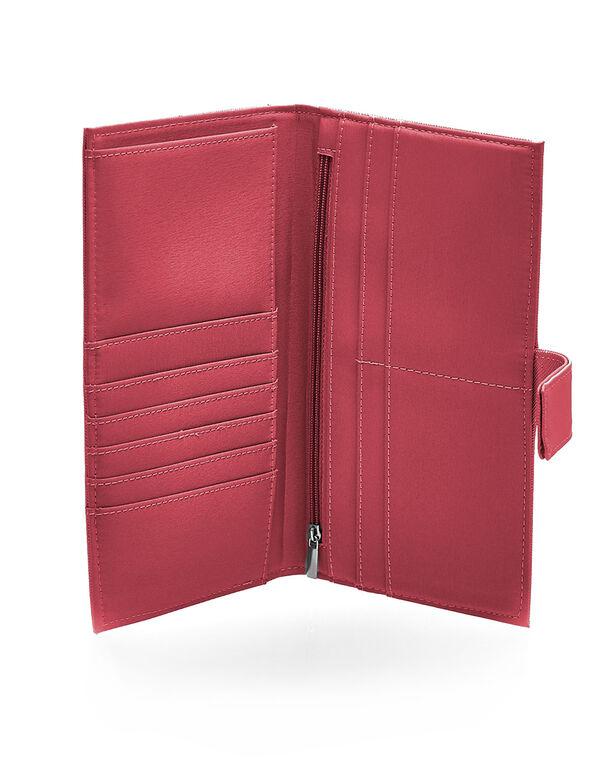 Fresh Pink Saffiano Travel Wallet, Fresh Pink, hi-res