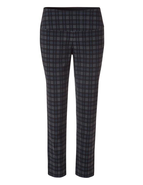 Plaid Slimming cleo Signature Pant ®, Black/Navy/Grey, hi-res