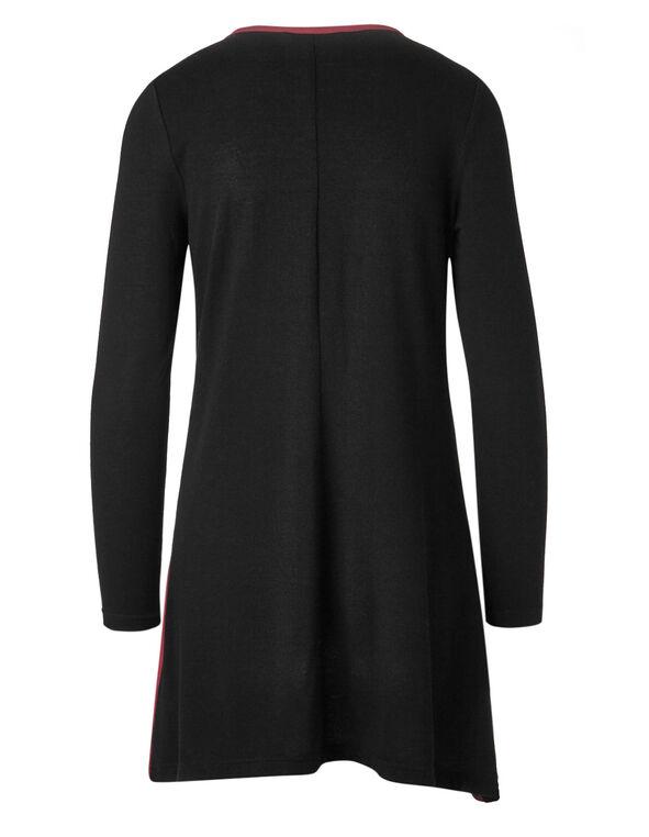 Black Printed Tunic Top, Black/Red, hi-res