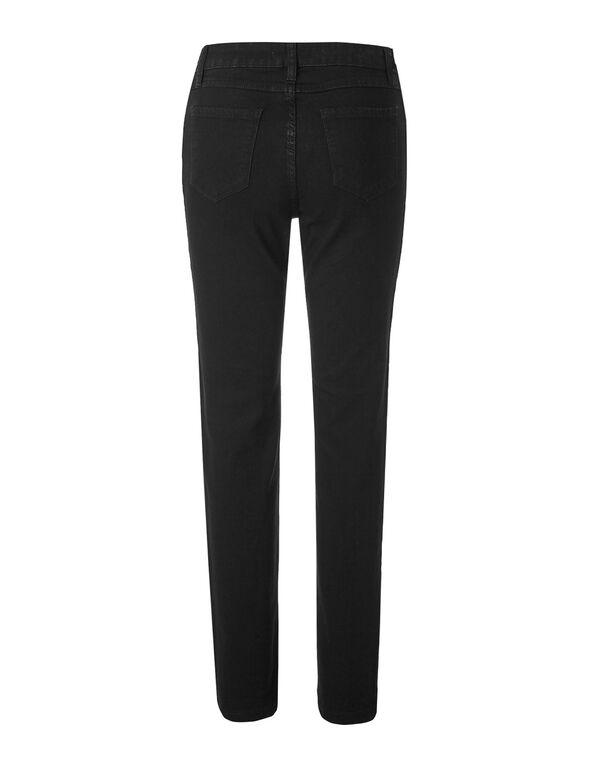 Black Short Slim Leg Jean, Black, hi-res