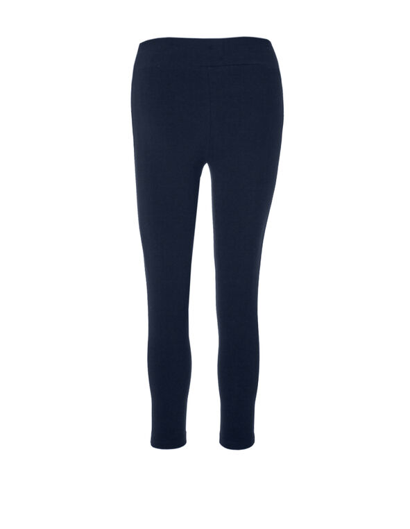 Navy Cotton Capri, Navy, hi-res