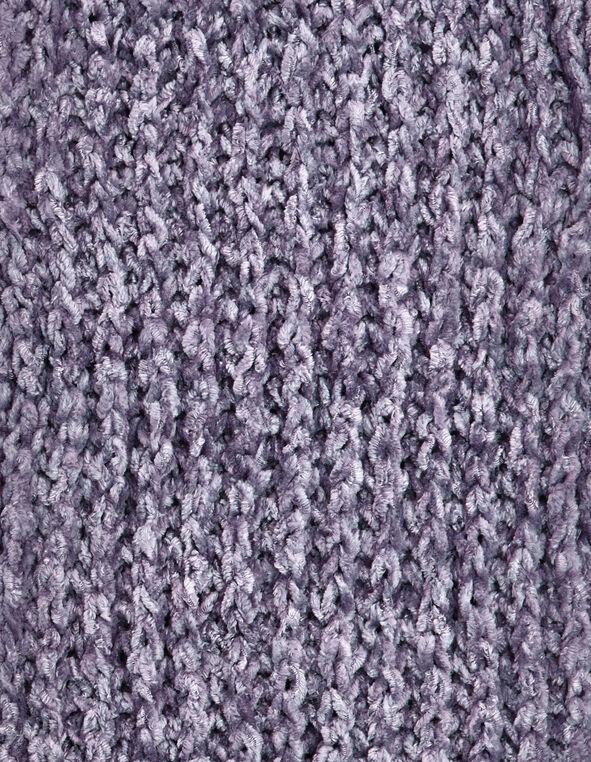 Lavender Chenille Loop Scarf, Lavender, hi-res