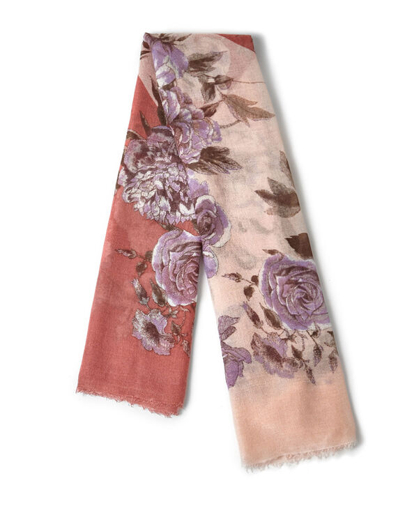 Pink Bouquet Flower Scarf, Pink, hi-res