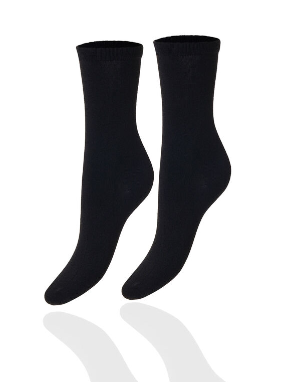 Blue Super Soft Crew Sock Pack, Black, hi-res