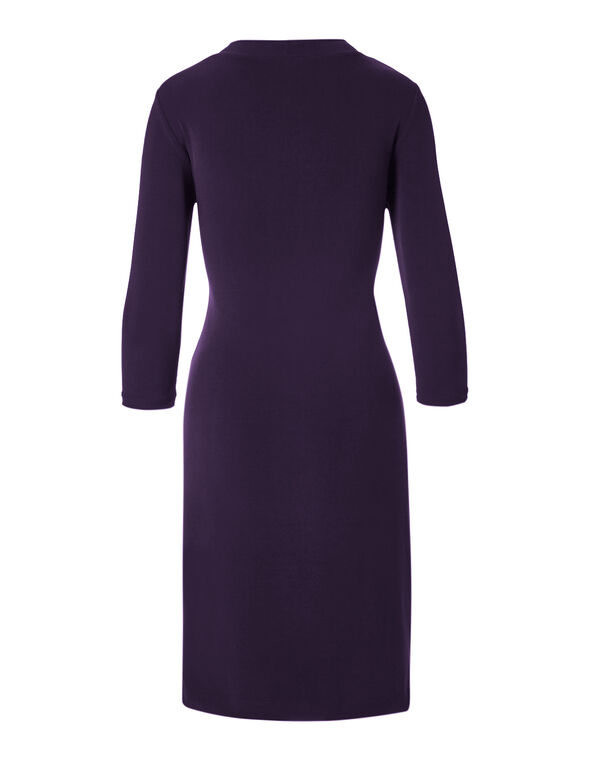 Purple Ruched Side Dress, Purple, hi-res