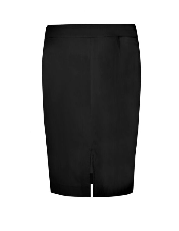 Black Signature Pencil Skirt, Black, hi-res
