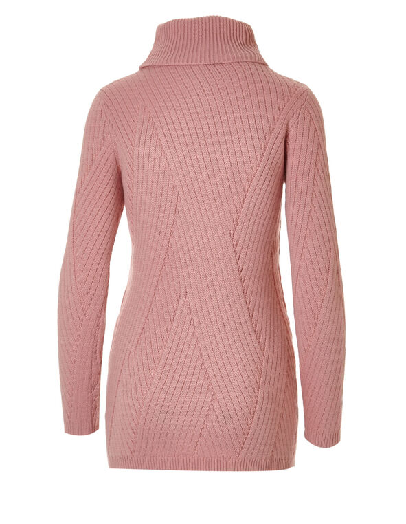 Pink Turtleneck Sweater, Pink Lady, hi-res