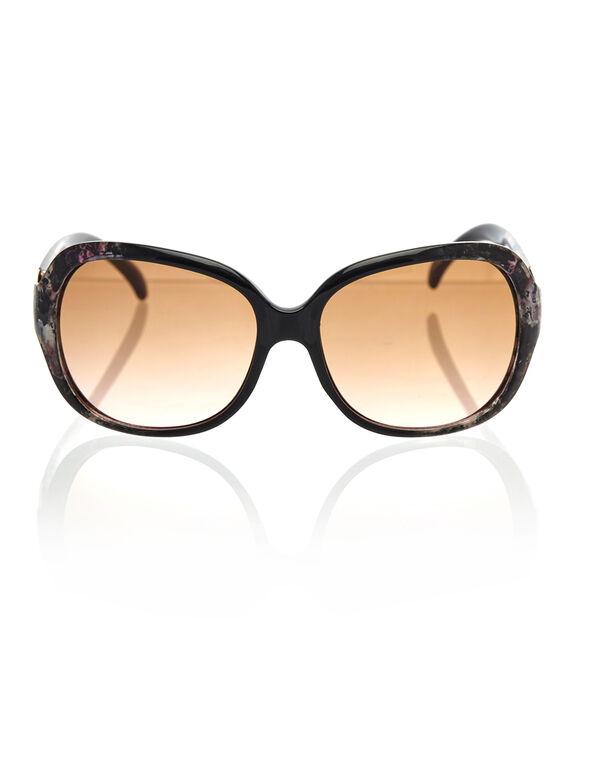 Floral Tort Oval Sunglasses, Floral, hi-res