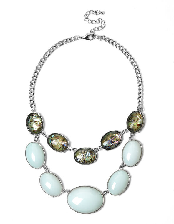 Abalone Shell Necklace, Mint, hi-res