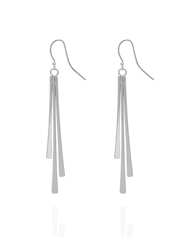 Long Silver Bar Earring, Silver, hi-res