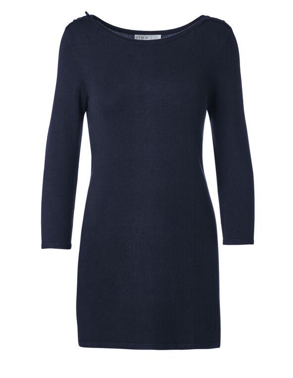 Navy Tunic Sweater, Navy, hi-res