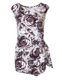 Mauve Printed Ruched Top