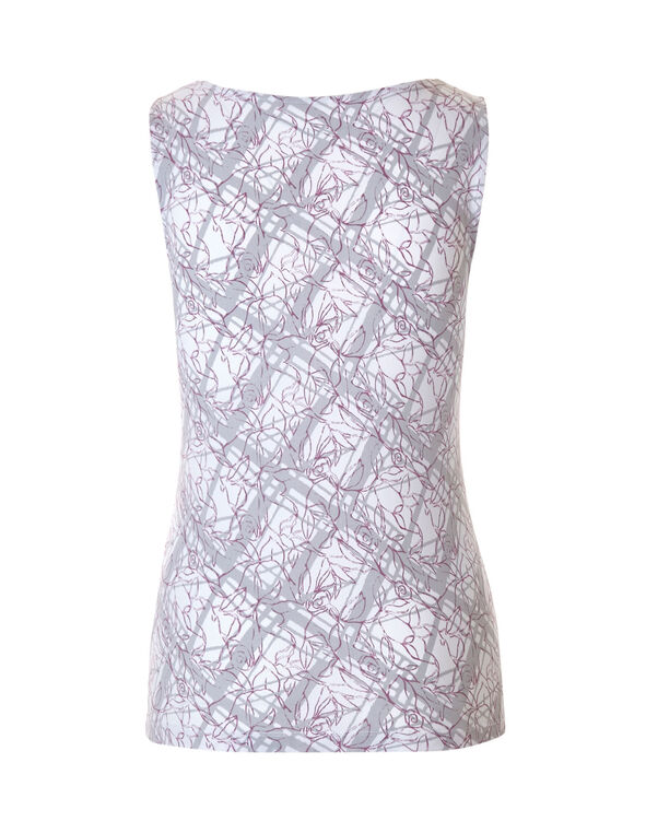 Orchid Print Essential Layering Top, Orchid/Grey, hi-res